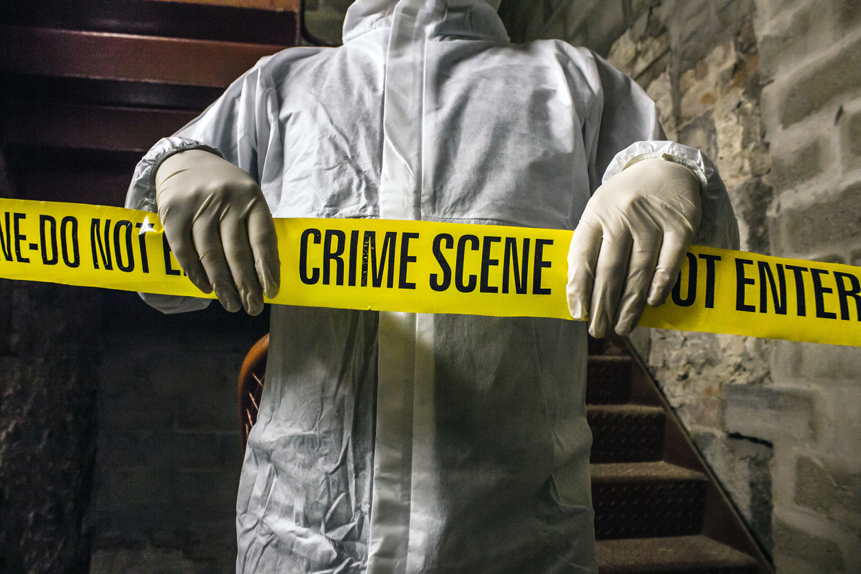 CSI in Stairwell.